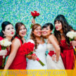 the bride and her bridesmaids houston weddings at demers 108x108    