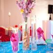 colorful caribbean wedding colors table setting 108x108