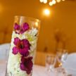 Flower Petals in Vase Centerpiece