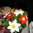 Flowers on Food Tray
