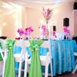 island tablescape with vibrant colors wedding table setup 108x108