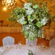 Large Green & White Floral Centerpiece