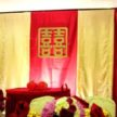 Red & Yellow Cultural Wedding Backdrop