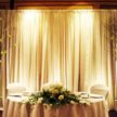 Two Main Lights & Flowers Event Backdrop
