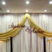 Yellow Sash Backdrop at Demers