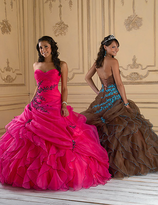 Purple Ball Gowns, House of Wu Quince Gowns for 2011- PromGirl