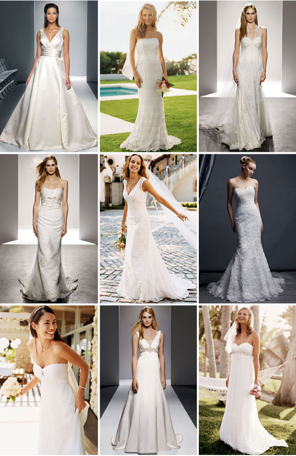 Different color white wedding dresses in houston tx for Wedding dress shades of white