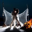 Moonlight Wedding Kiss