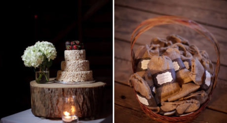 Country Wedding Cake Setting